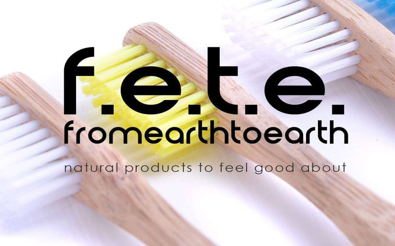 F.E.T.E Toothbrushes 4 Plastic Free Bamboo Multicoloured Toothbrushes with Medium Softness Bristles
