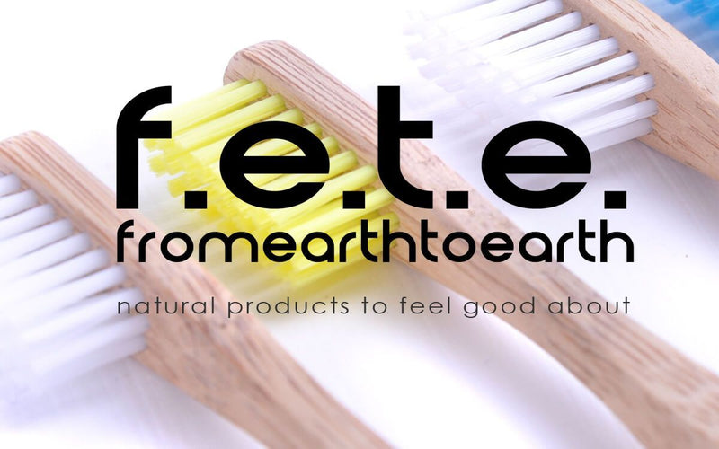 F.E.T.E Toothbrushes 4 Plastic Free Bamboo Multicoloured Toothbrushes with Soft Bristles