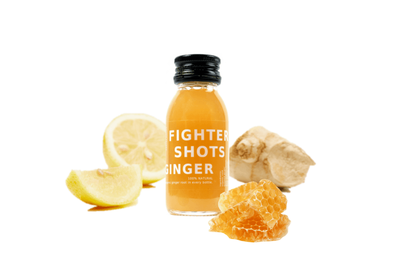 100% Natural Cold Pressed Ginger Health Shots - Case of 12 Bottles by Fighter Shots