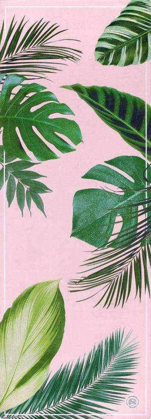 Grounded Factory Mat Botanical Garden Pink Yoga Mat - Grounded Factory