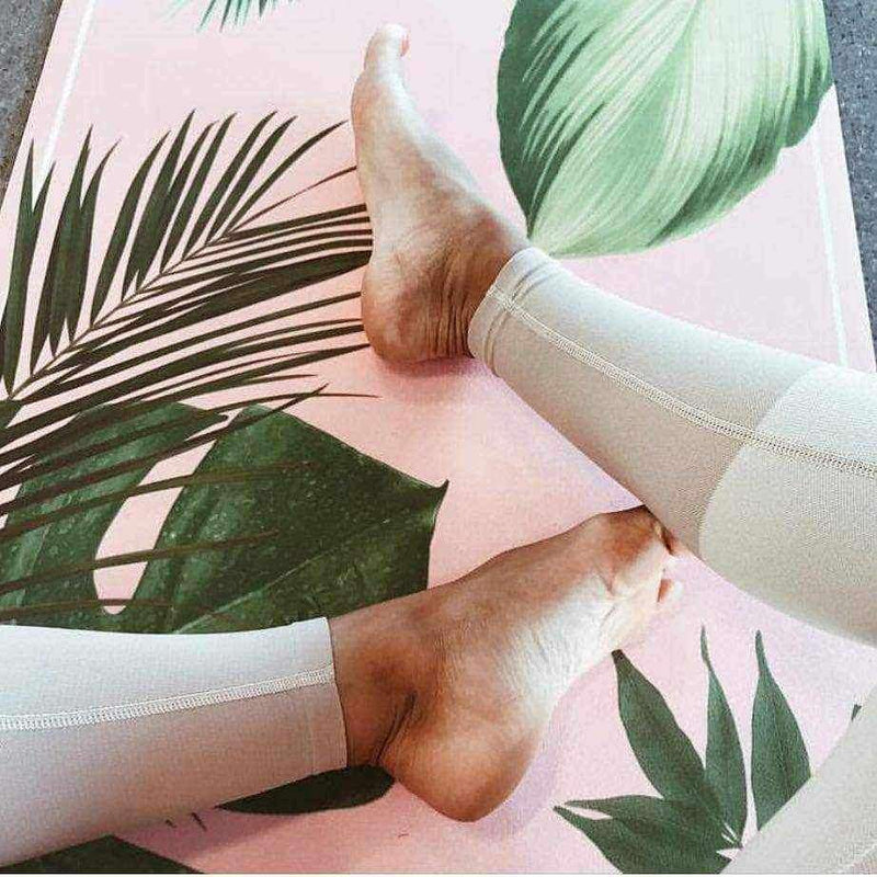 Botanical Garden Pink Yoga Mat - Grounded Factory , Mat  - Life By Equipe