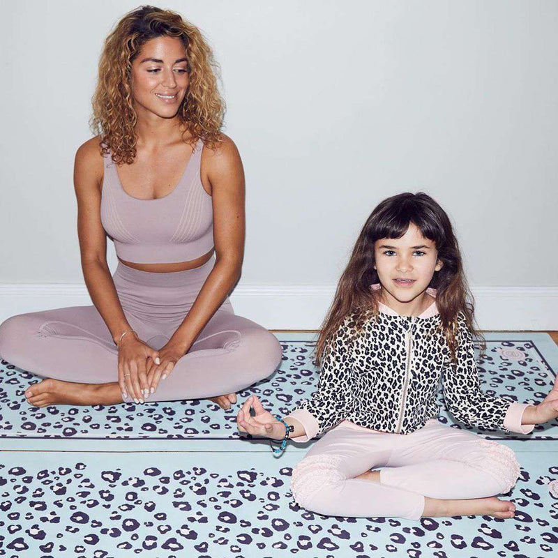 Grounded Factory Mat Leopard Mint Kids Yoga Mat - Grounded Factory