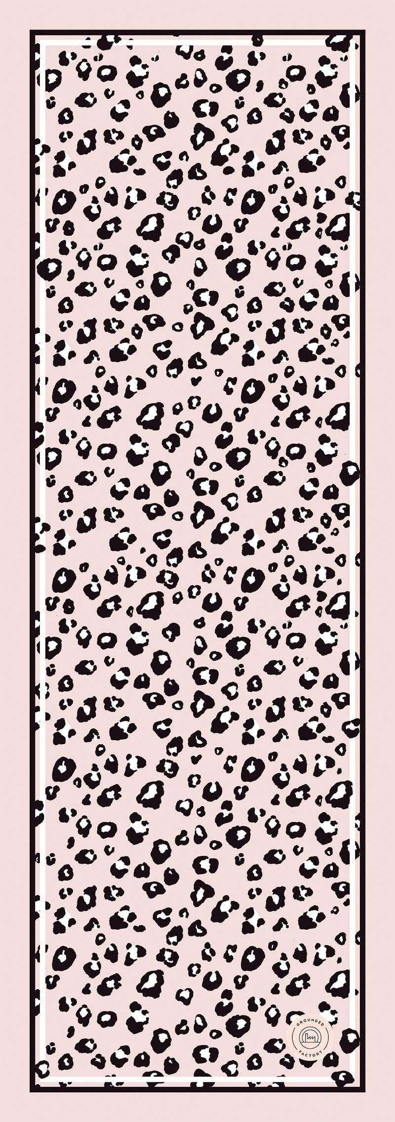 Grounded Factory Mat Leopard Pink Studio Yoga Mat - Grounded Factory