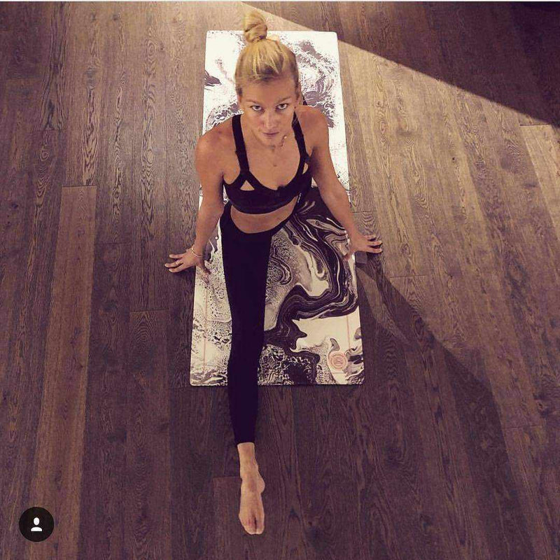 Marble Black Yoga Mat - Grounded Factory , Mat  - Life By Equipe