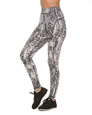 HPE Clothing Leggings XS / White Snake High-Waist Leggings - HPE Clothing
