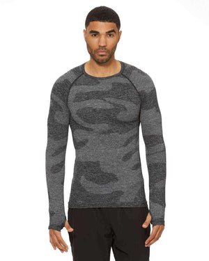 HPE Clothing Tops S / Dark Grey Camo Cross X Seamless Long Sleeve Camo Top - HPE Clothing