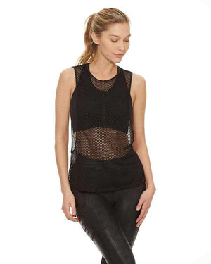 HPE Clothing Tops XS / Black Mesh Net Tank, Black Mesh - HPE Clothing