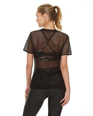 HPE Clothing Tops XS / Black Mesh Net Tee - HPE Clothing