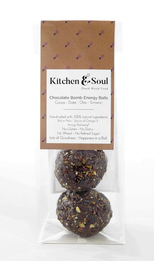 Kitchen & Soul Energy Balls (Snacks) Kitchen & Soul Chocolate Bomb Energy Balls