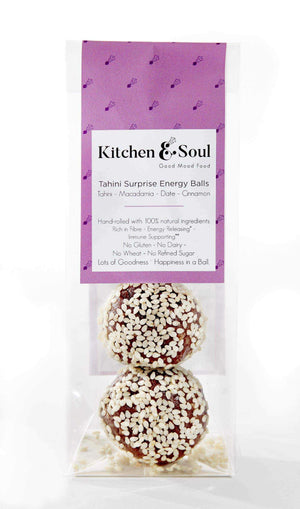 Kitchen & Soul Energy Balls (Snacks) Kitchen & Soul Tahini Surprise Energy Balls