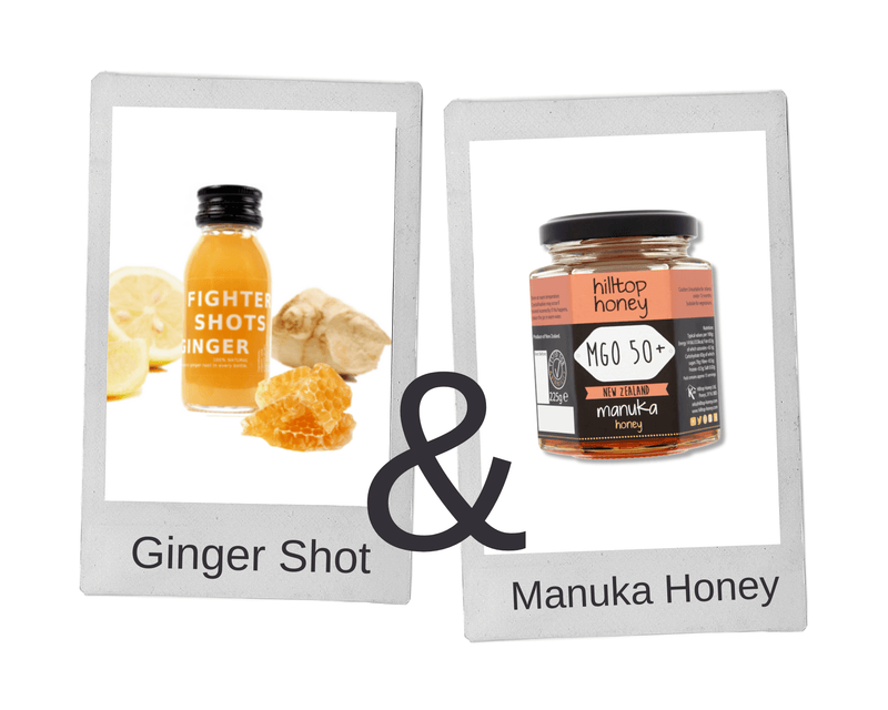 100% Natural Cold Pressed Ginger + Manuka Honey Health Shots - Case of 12 Bottles