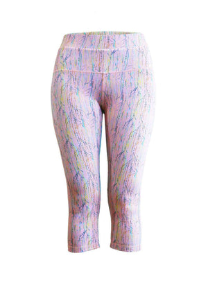 Milochie Leggings Origin Capris Leggings in Stockholm print - Milochie