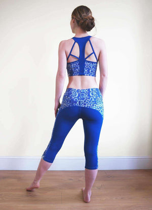 Origin Capri Leggings in Bali print - Milochie , Leggings  - Life By Equipe