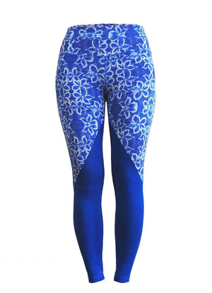 Milochie Leggings XS / Blue Revival Leggings in Bali print - Milochie