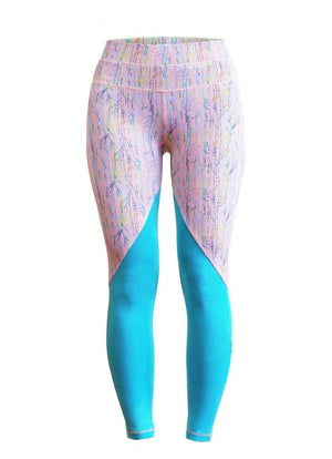 Milochie Leggings XS / Pink/Teal Revival Leggings in Stockholm print - Milochie