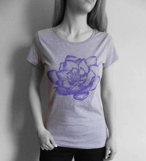 Milochie Tops M / Grey Morning Lotus T-Shirt - BUY 1 GIFT 1 - Milochie