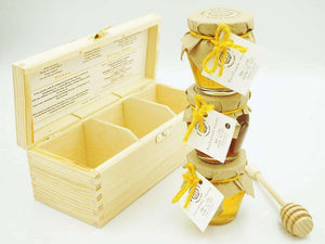 Garden Honey Gift Set of 3 in a Wooden Box , Honey  - Life By Equipe
