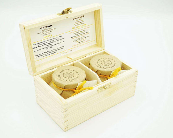 Meadow Honey Gift Set of 2 in a Wooden Box , Honey  - Life By Equipe
