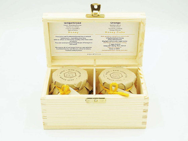 Pantry Honey Gift Set of 2 in a Wooden Box , Honey  - Life By Equipe