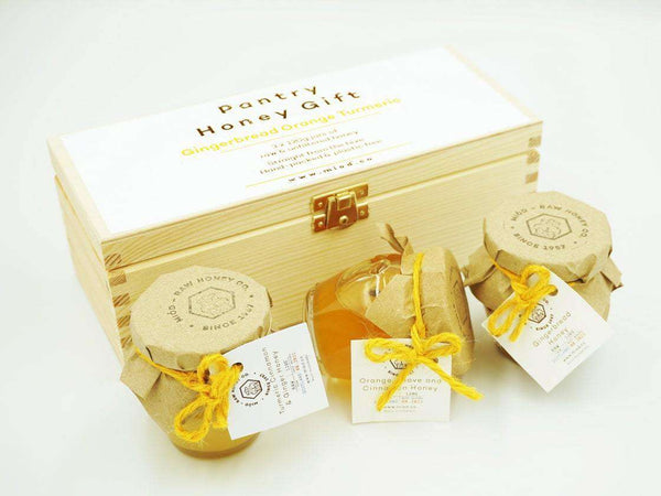 Pantry Honey Gift Set of 3 in a Wooden Box , Honey  - Life By Equipe