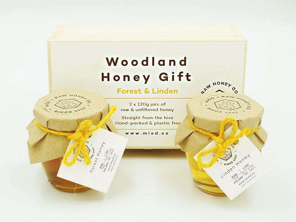Woodland Honey Gift Set of 2 in a Wooden Box , Honey  - Life By Equipe