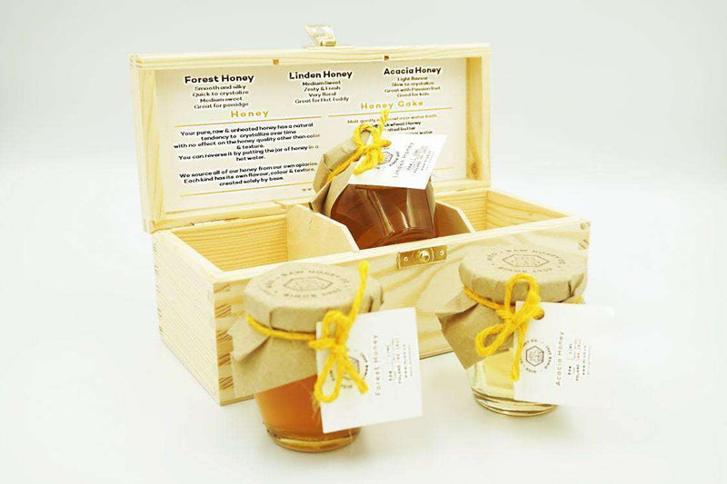 Woodland Honey Gift Set of 3 in a Wooden Box , Honey  - Life By Equipe