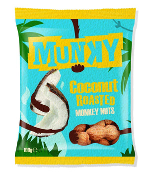 Munky Nuts (Snacks) Single Packet Munky - Coconut Roasted Peanuts In Shells (Monkey Nuts)