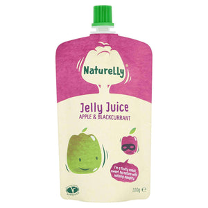 Naturelly Children's Snacks Naturelly Jelly Juice Apple and Blackcurrant - Case of 12x100g