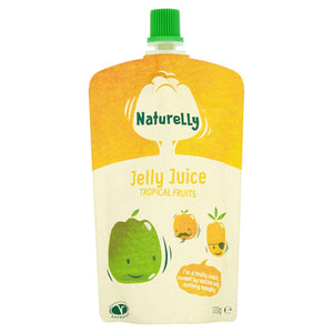 Naturelly Children's Snacks Naturelly Jelly Juice Tropical Fruits - Case of 12x100g