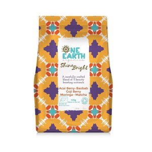 One Earth Organics Superfood Blend Shine Bright Superfood Blend with Acai Berry, Goji Berry and Moringa 125g