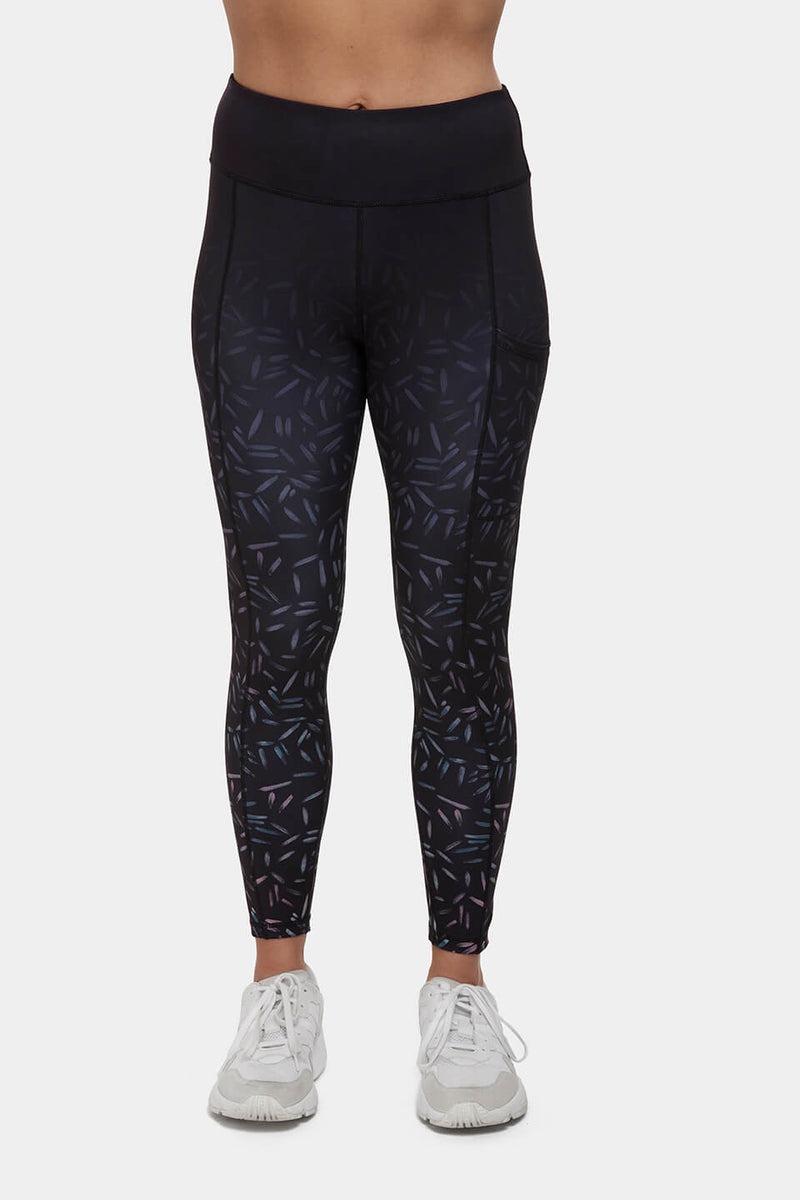 Scattered Line High Waisted Gym Leggings Perky Peach