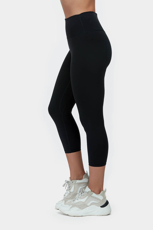 Move More Black Capri Leggings by Perky Peach