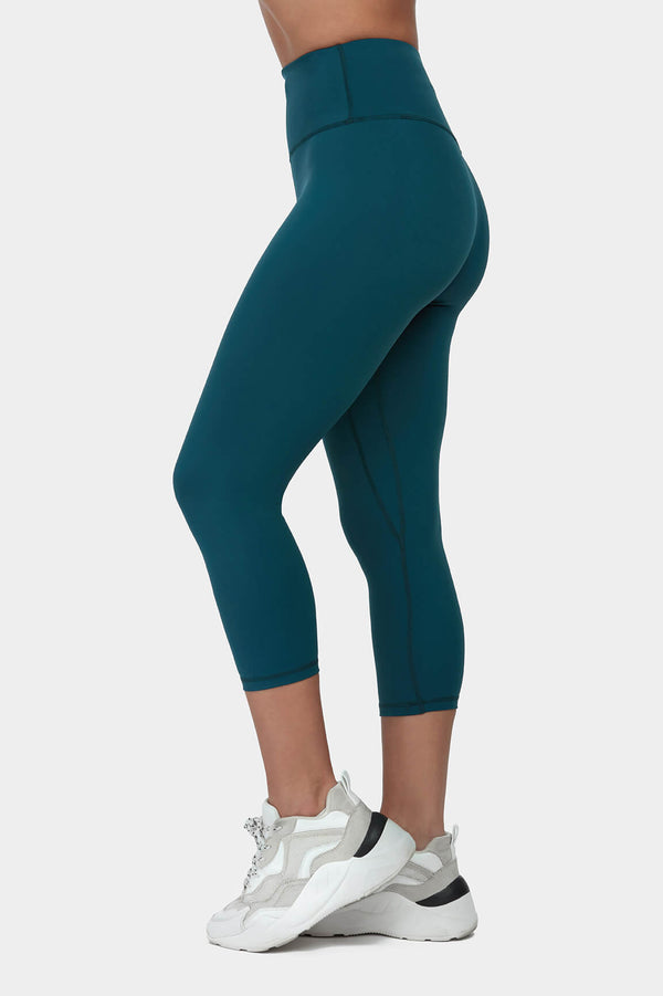 Move More Forest Green Capri Leggings by Perky Peach