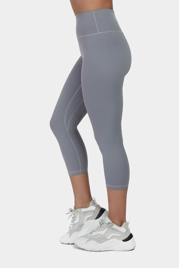 Move More Grey Capri Leggings by Perky Peach