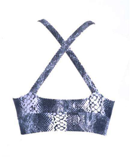 Posto9 Bra Polewear Bra Top - White Snake 'Ximena' by TANIT Ibiza - Made with recycled fishing nets