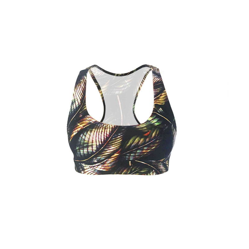 Yoga and Fitness Racerback Bra Top - Andaman Print , Bra  - Life By Equipe
