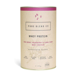 Pure Blend Co. 100% Natural Whey Protein Blend Acai Berry, Blueberry & Camu Camu Whey Protein 375g