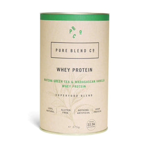 Pure Blend Co. 100% Natural Whey Protein Blend Matcha Green Tea & Madagascan Vanilla Whey Protein 375g