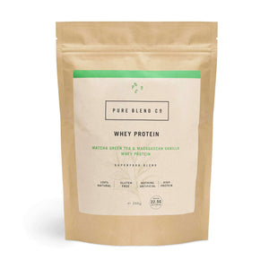 Pure Blend Co. 100% Natural Whey Protein Blend Matcha Green Tea & Madagascan Vanilla Whey Protein 500g