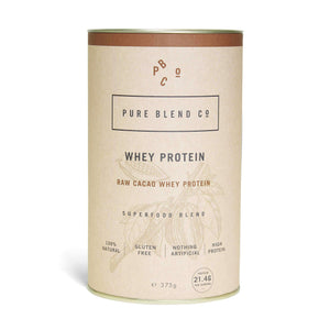 Raw Cacao Whey Protein 375g , 100% Natural Whey Protein Blend  - Life By Equipe