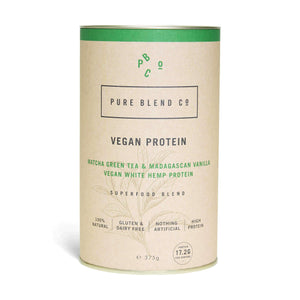 Pure Blend Co. 100% Vegan Protein Blend Matcha Green Tea & Madagascan Vanilla Vegan Protein 375g