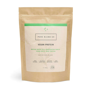 Pure Blend Co. 100% Vegan Protein Blend Matcha Green Tea & Madagascan Vanilla Vegan Protein 500g