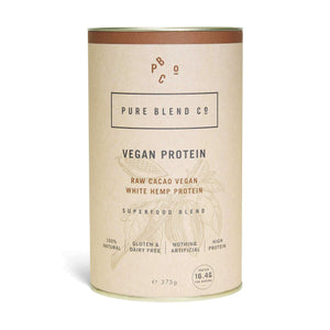 Pure Blend Co. 100% Vegan Protein Blend Raw Cacoa Vegan Protein 375g