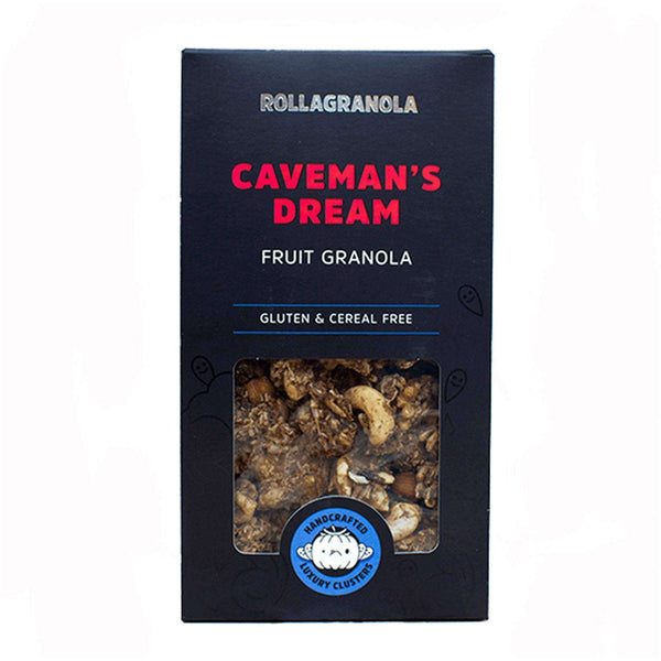 Caveman's dream  Gluten free fruit granola by Rollagranola