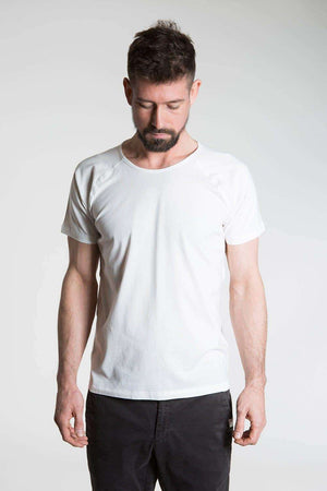 So We Flow Tops Jersey T-Shirt - Men's Yoga Tee - Natural
