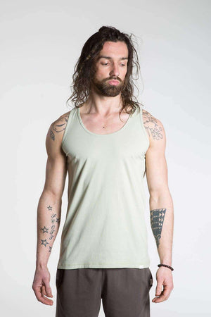 So We Flow Tops Jersey Vest - Men's Yoga Vest - Alfalfa