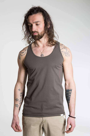 So We Flow Tops Jersey Vest - Men's Yoga Vest - Grit