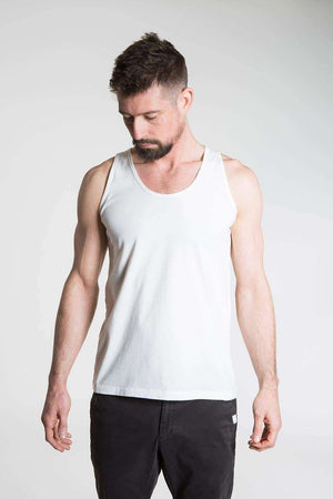 So We Flow Tops Jersey Vest - Men's Yoga Vest - Natural