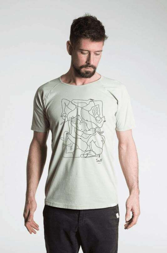 Mysore Room T-Shirt - Men's Yoga Tee - Green , Tops  - Life By Equipe