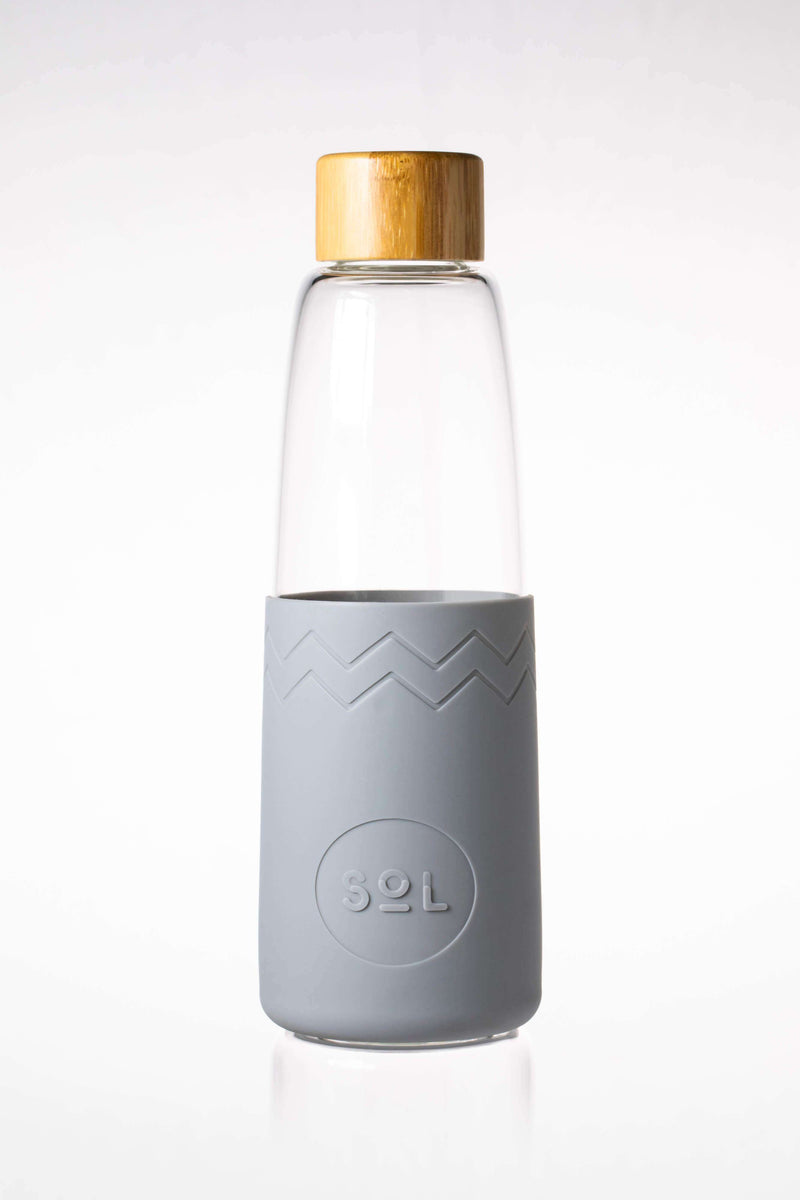 SoL Cups Glass Bottle Cool Grey Reusable Glass Bottle - SoL Bottle